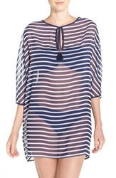 Tommy Bahama Women's Breton Stripe Cover Up Tunic