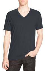 Men's James Perse Short Sleeve V Neck T Shirt Carbon Pig