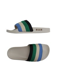 Msgm Footwear Sandals Men Pastel Blue