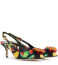 Dolce And Gabbana Embellished Pumps Multicoloured