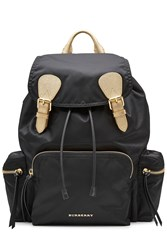Burberry Shoes And Accessories Fabric Backpack Black