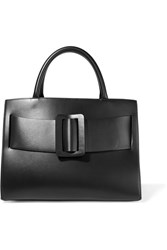 Boyy Bobby Large Buckled Leather Tote Black