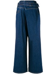 Christian Wijnants High Waisted Jeans Blue