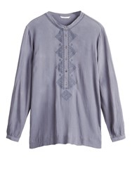 Sandwich Embroidered Blouse Grey