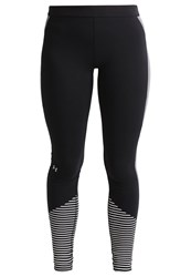 Under Armour Tights Black White Metallic Silver