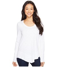 Lilla P Long Sleeve Scoop Neck White Women's Clothing