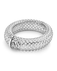 Slane Basketweave Oval Hinged Bangle