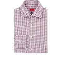 Isaia Men's Gingham Poplin Shirt Red