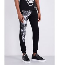 Philipp Plein Skull Tapered Jogging Bottoms Black