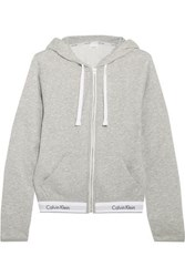 Calvin Klein Underwear Modern Cotton Jersey Hooded Sweatshirt Gray