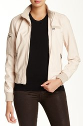 Members Only Cropped Iconic Faux Leather Jacket Pink
