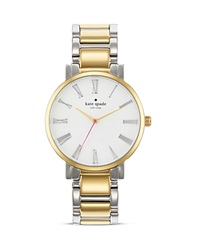Kate Spade New York Large Two Tone Roman Numeral Gramercy Watch 38Mm