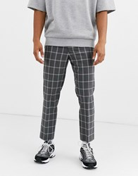 Noak Check Trousers In Grey Pink