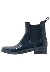 Pavement Rain Wellies Navy Dark Blue