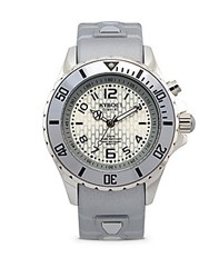 Kyboe Power Silver Silicone And Stainless Steel Strap Watch 40Mm