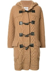 Coohem Knitted Duffle Coat Brown