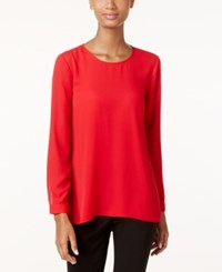 Vince Camuto Pleated Back High Low Blouse