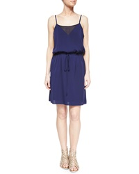 Milly Navy Silk Sophia Tank Dress