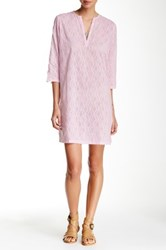 Ganesh Split Neck Tunic Dress Pink