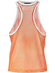 Dsquared2 Racerback Style Front Top Yellow And Orange