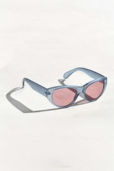 Urban Outfitters Oversized Cat Eye Sunglasses Dark Blue