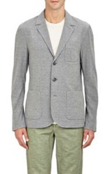 James Perse Knit Three Button Sportcoat Grey Size 1 S