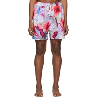 Saturdays Surf Nyc Multicolor Timothy Vivid Lotus Swim Shorts