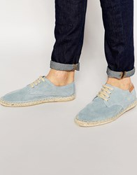 Bronx Lace Up Espadrilles In Blue Blue