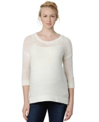 Design History Maternity Three Quarter Sleeve Sweater Pearl