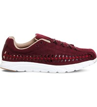 Nike Mayfly Woven Suede Trainers Night Maroon Red