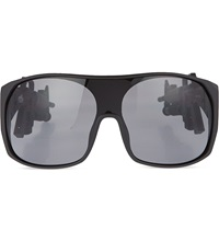 Jeremy Scott Matte Black Machine Gun Sunglasses