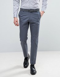 Selected Homme Slim Cotton Stretch Suit Trousers Ombre Blue