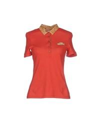Alviero Martini 1A Classe Topwear Polo Shirts Women Brick Red
