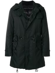 Sealup Zipped Parka Coat Black
