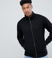 Jacamo Tall Faux Suede Funnel Neck Jacket Black