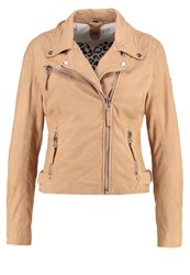 Gipsy Leather Jacket Make Up Beige