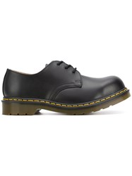 Dr. Martens Chunky Derby Shoes Leather Polyester Rubber 6.5 Black