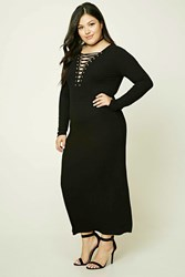 Forever 21 Plus Size Lace Up Front Dress