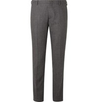 Paul Smith Charcoal Slim Fit Puppytooth Wool Suit Trousers Charcoal