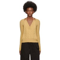 Jacquemus Yellow La Double Maille V Neck Sweater