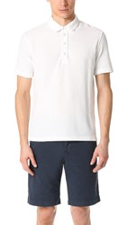 Billy Reid Miles Polo Shirt Natural