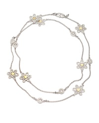 Opera Silver And Gold Flower Necklace Coomi