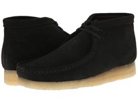 Clarks Wallabee Boot Black Suede Men's Lace Up Boots