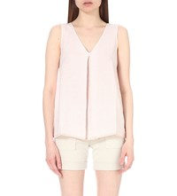 The White Company Sleeveless Linen Top Rose