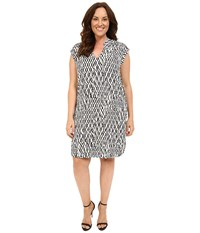 Tart Plus Size Mellie Dress Chain Link Women's Dress Gray