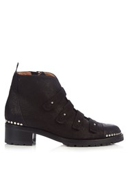 Alexa Wagner Harley Leather Ankle Boots Black