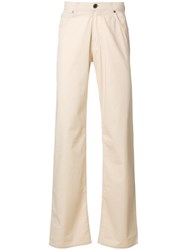 Armani Jeans Flared Trousers Men Cotton Spandex Elastane 32 Nude Neutrals