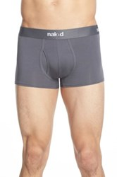 Naked Essential 2 Pack Stretch Cotton Trunks Gray