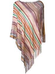 Missoni Striped Knitted Poncho