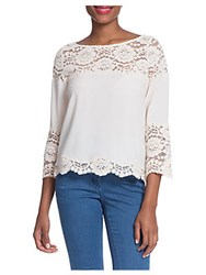 Plenty By Tracy Reese Lace Bell Sleeve Top Ivory
